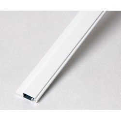 Profil kołnierzowy aluminiowy biały - 1m