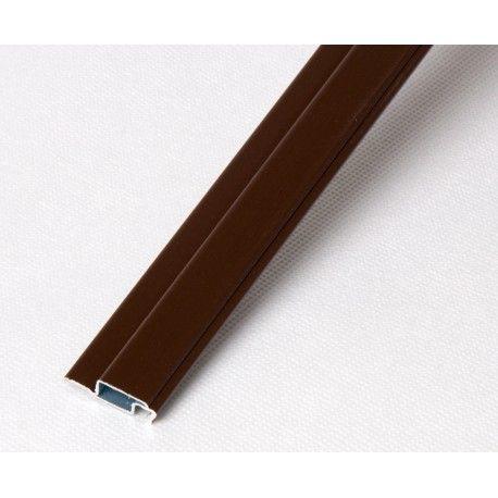Profil kołnierzowy aluminiowy brązowy - 1m