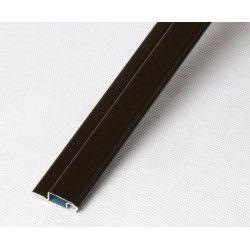 Profil kołnierzowy aluminiowy ciemny brąz - 1m