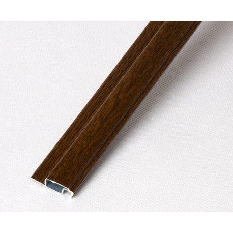 Profil kołnierzowy aluminiowy orzech - 1m